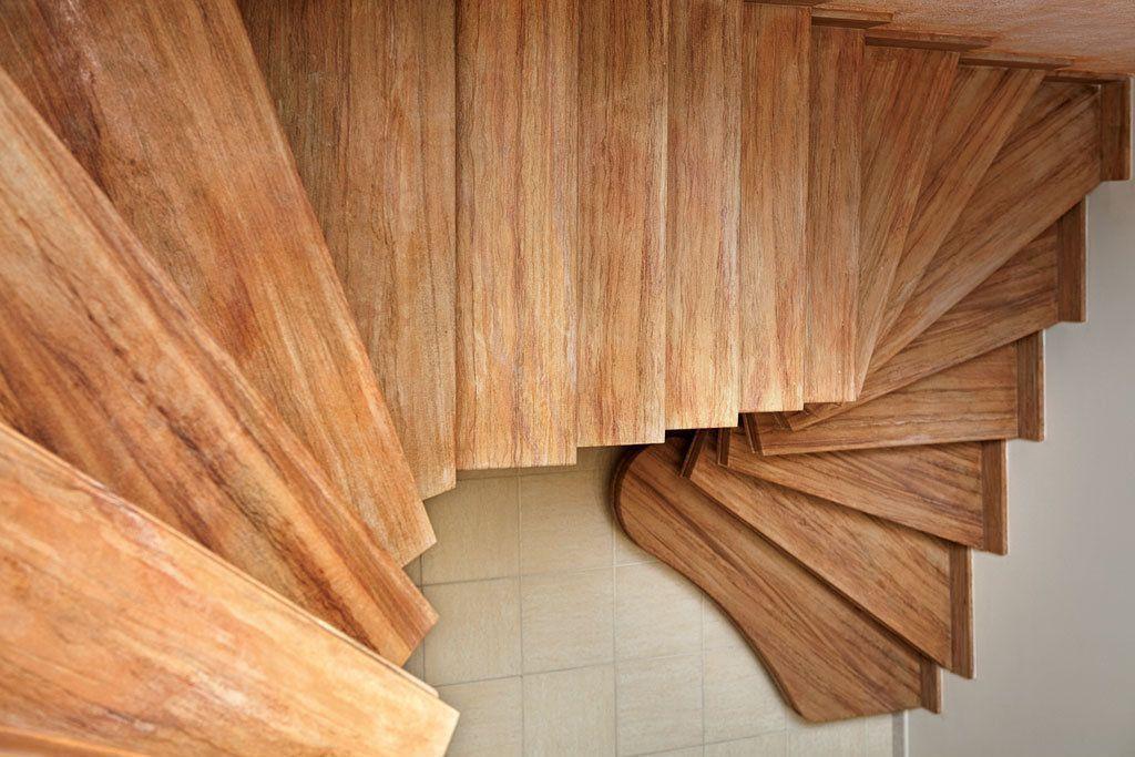 scala prefabbricata in cemento armato ellittica in pietra rainbow, tipo legno