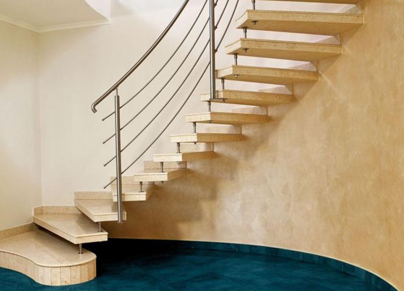 Scala Da Esterno In Legno : Scale ellittiche in pietra marmo legno per interni ed esterni