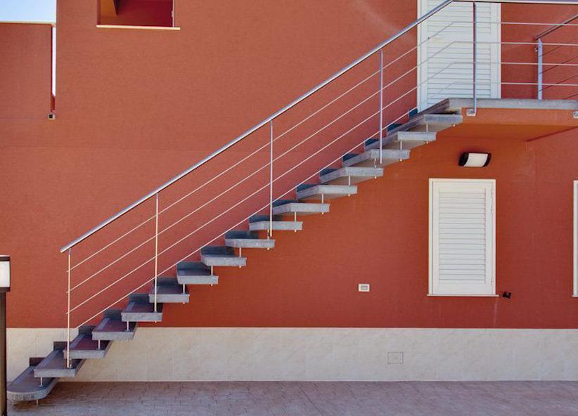 Scale esterne fargione scale prefabbricate modica - Scale da esterno in muratura ...