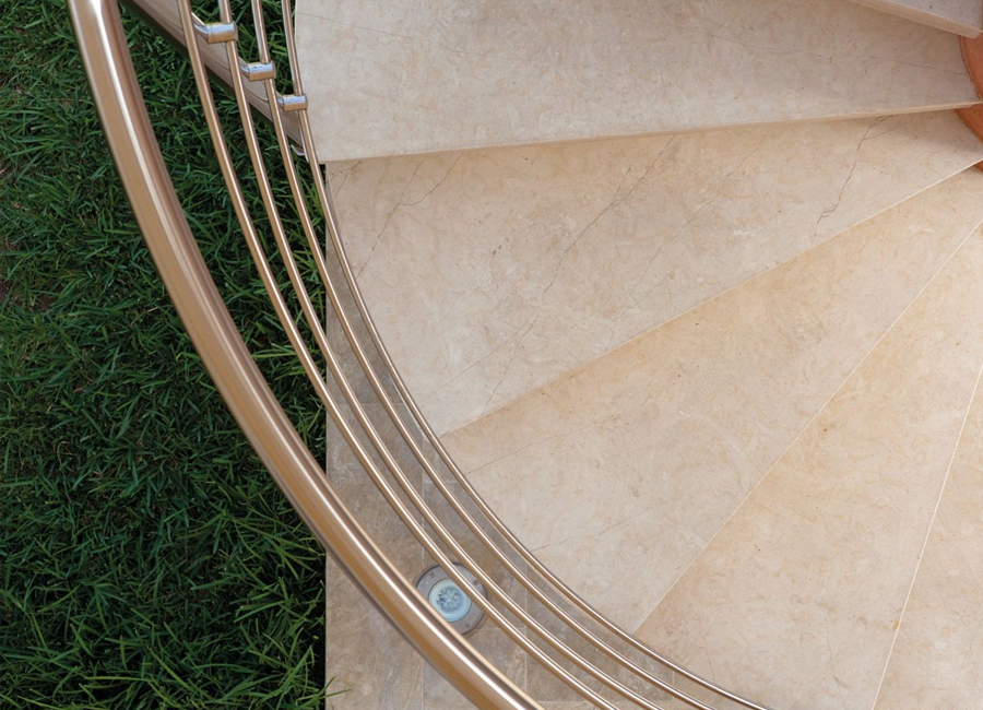 scala a chiocciola per esterni